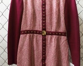 Vintage Wine Color Winter Dress