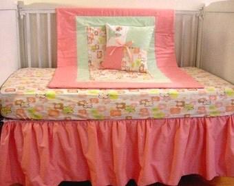 Field of Flowers crib Bedding Set