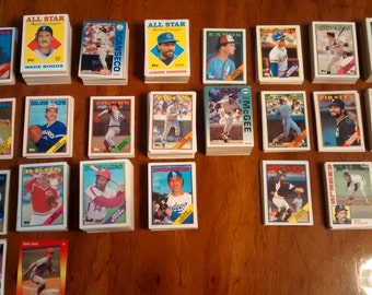 Baseball cards 1976 to the 90's