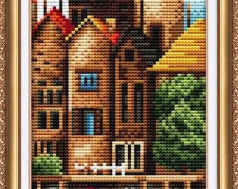 Cross Stitch Kit By Abris Art - London