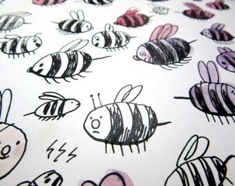 Dessin original - Les abeilles