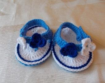 Crocheted baby flip flops, baby shoes ,crochet baby boots, crochet flip flops, sandals flip flops, Summer baby sandals