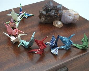 Origami crane mobile handing / 5 Multi coloured cranes / No. 3862