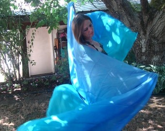 Bellydance  Veil - Summer Blues