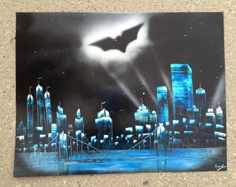 Gotham City - Spray Paint Art