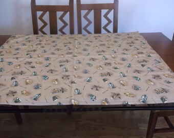 Handmade Fishing Tablecloth - New - Free Shipping in USA