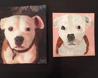 Custom Mosaic Pet Portraits