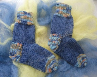 Blue socks. Blue socks