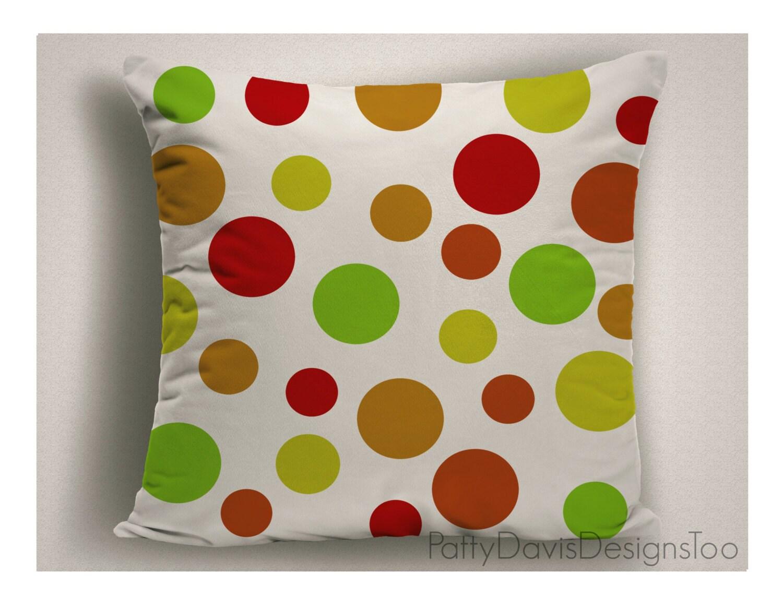 polka dot pillows - polka dot pillows red and green throw pillows large pillow