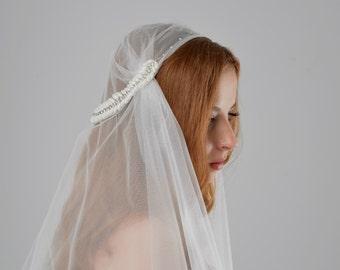 MADE TO ORDER Juliet Cap Veil, wedding veil, embroidered bridal veil, tulle cap veil, long veil, cathedral veil, cap veil, chapel veil