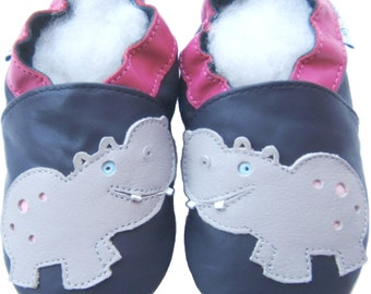 Soft Sole Baby Shoes Free Shipping Infant Toddler Kids Children Boy Gift Jinwood Hippo Navy Shoes