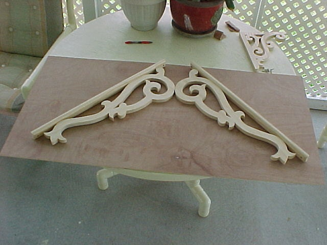 Victorian gable trim complete set 1 by victorianwoods for Fypon gable decorations