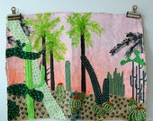 Hand Painted and Embroidered Jungle Wall Hanging