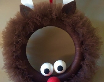 Rudolph Reindeer Wreath