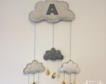 Handmade Personalised Cloud Hanging Mobile