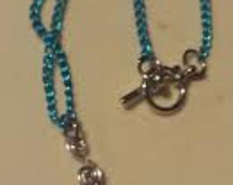 Blue Pendant with Chain Necklace N1