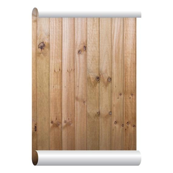 Self Adhesive Removable Wallpaper Wood Fence Wallpaper Peel