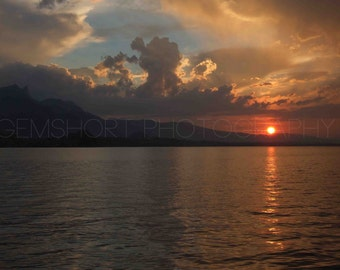 Sunset Over the Sea - Digital Download - Photography by GemShort Photography