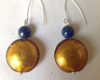 Venetian Murano Earrings (Golden)
