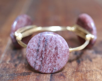 Purple Muscovite Stone Bangle