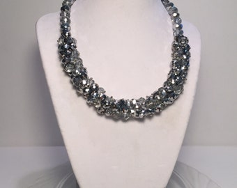 Paris Group 2 - Silver Cluster Glamour Necklace