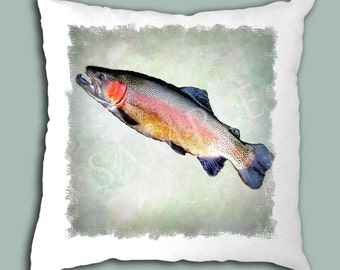 Trout Pillow Cover
