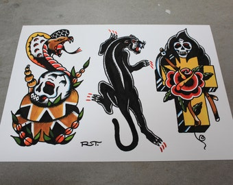 Tattoo Flash Print