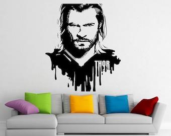 Thor Stickers Wall Vinyl Decals Home Interior Murals Art Decoration (122z)