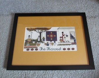 The Harvest Amish Cross Stitch Picture