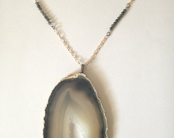 Beaded Geode Necklace