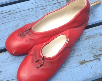 Very cute Brentleighware red ballet shoes wall pocket