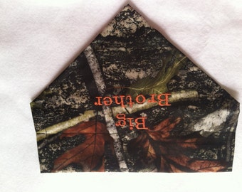 Pregnancy, Dog Bandana,  Big Brother, Gender Reveal, Camo, Mossy Oak, Over the Collar, Baby Gift, New Baby, Photo Shoot, Dog Lovers Gift