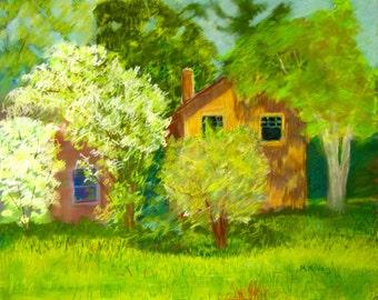 Along The Brandywine-Original framed pastel painting