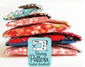 Secret Pocket Envelope Clutches PDF Sewing Pattern | Pouch Pattern | Envelope Clutch Sewing Pattern