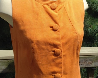 Vintage Orange Sheath Dress AS-IS