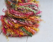 Handspun Curly Yarn - Pretty Lock Spun - Gypsy Dream - 32 Yards
