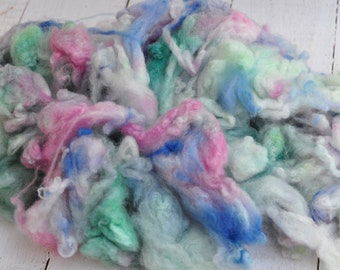 Hand Dyed Cormo Wool - Uncarded - Super Soft - Seafoam - 1.7 ounces