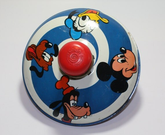 Popular Toys In 1973 : Vintage walt disney productions spinning top
