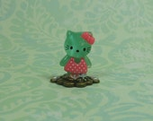 Dollhouse Miniature Aqua Hello Kitty Figurine