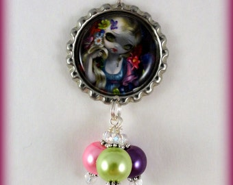 "Jasmine Becket Griffith  "" Flora ""  necklace"