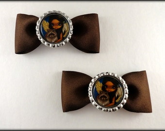 "Jasmine Becket Griffith  "" Brother Raccoon ""  bow set"