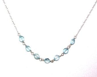 Sosie - Blue topaz necklace
