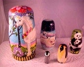 Decidedly Different Nesting Dolls - Some of My Friends - by Patricia Ann Rizzo