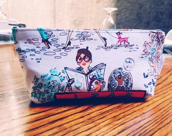 Fashion Print Cosmetic Bag, Who's That Girl Makeup Bag, Zipper Pouch, Toiletry Bag, Cosmetic Pouch, 144 Collection