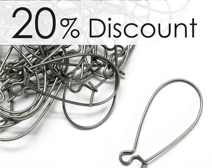 EWS-KD30 - Earwire, Kidney Medium, Surgical Steel - 50 Pieces (5pk)