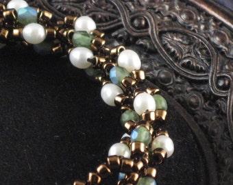 Bronze and Olive Bracelet