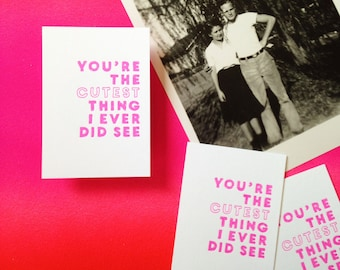 Mini Card - You're The Cutest Thing