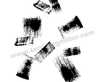 Thermofax Screen - Brushstrokes