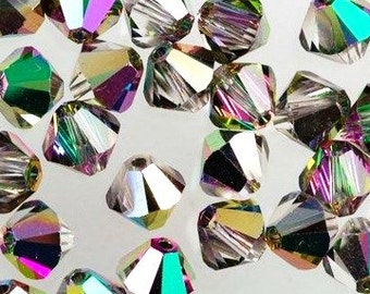 Swarovski Electra Faceted Bicone Crystals 4mm 24 pcs