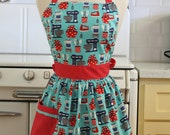 Retro Apron Baking Theme on Aqua CHLOE